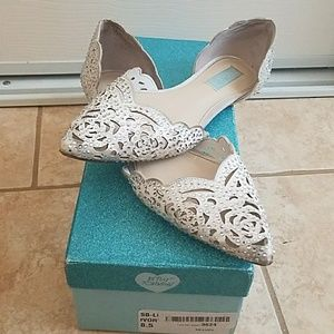 6b7c7fd44cf6 Betsey Johnson Shoes - Blue by Betsy Johnson Lucy Embellished Flats